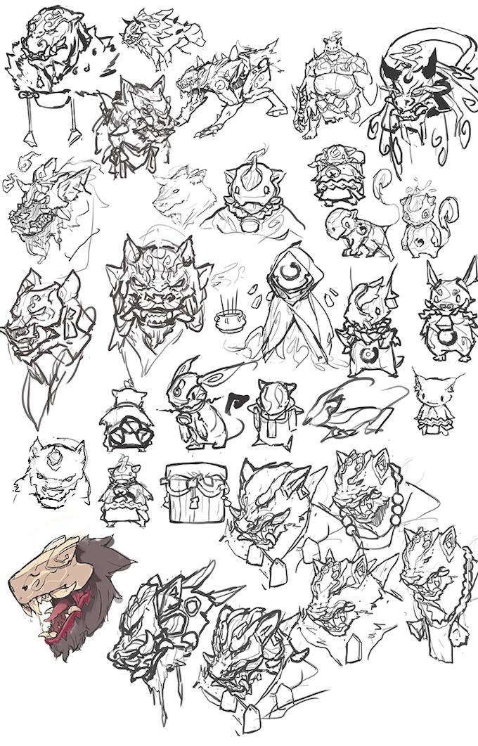 Creatures, Oni and Yokai