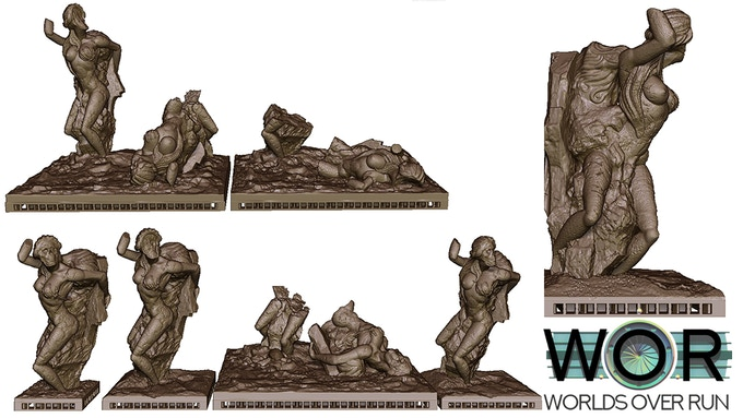 Several Variants of the Hell Statues