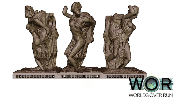The Faceless Woman on 75mm base