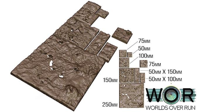 Lava Field Tiles - Iteration 1