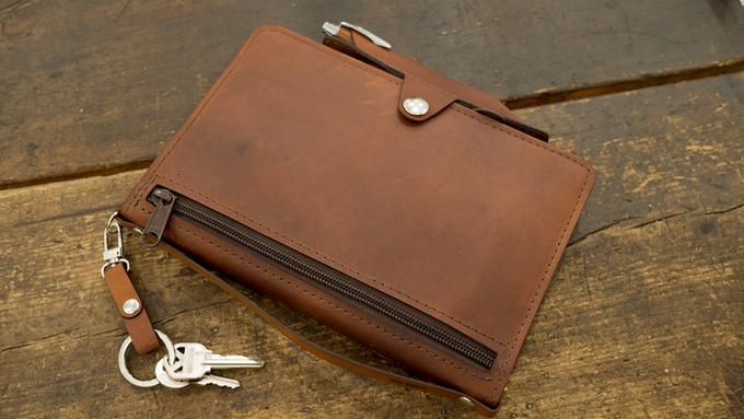 The mini-portfolio is a compact but comprehensive solution for your daily carry.