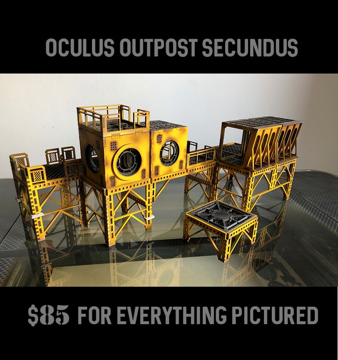 includes one Base Rig Section, one Large Platform, one Oculus Annex, and One Oculus Bridge