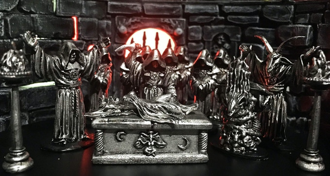 This scene features THE GRAND MALEFICIUM, 2 sets of THE UNHOLY TRINITY as well as 2 STRETCH GOALS-THE GRIMOIRE OF THE OBSCENE and THE MAGISTER TEMPLI