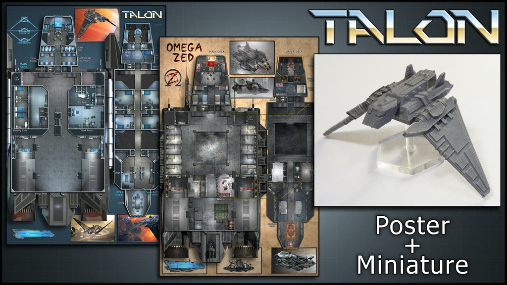Talon: Starship Map & Miniature project video thumbnail
