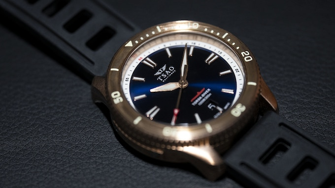 Midnight Blue Bronze with Domed Bronze Bezel