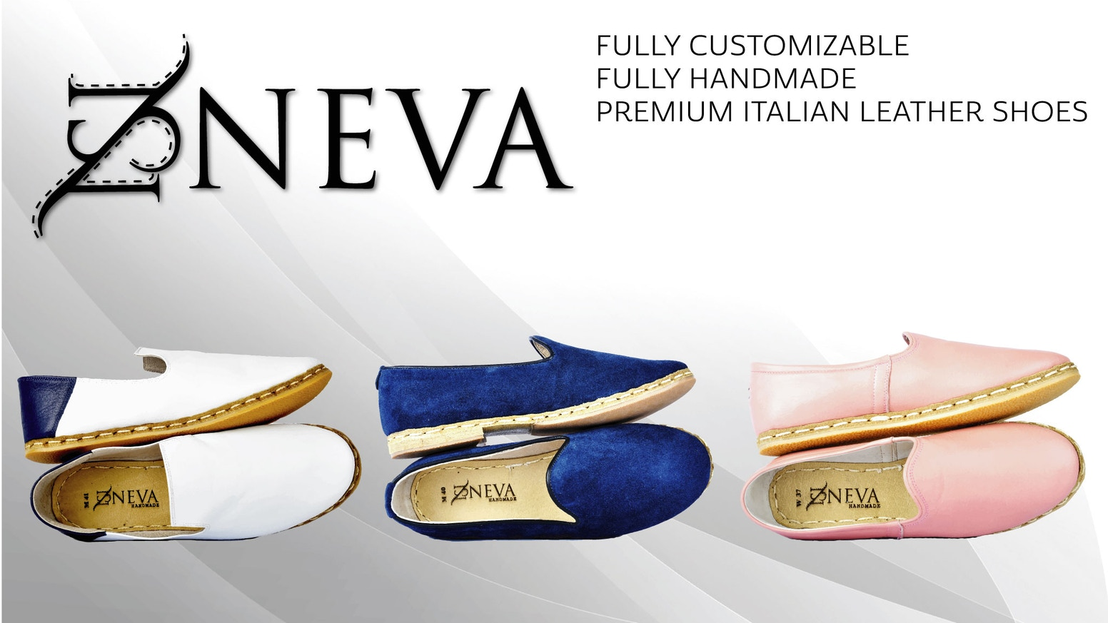 Neva Shoes,  the world's first fully customizable, handmade leather shoes inspired by espadrille and yemeni