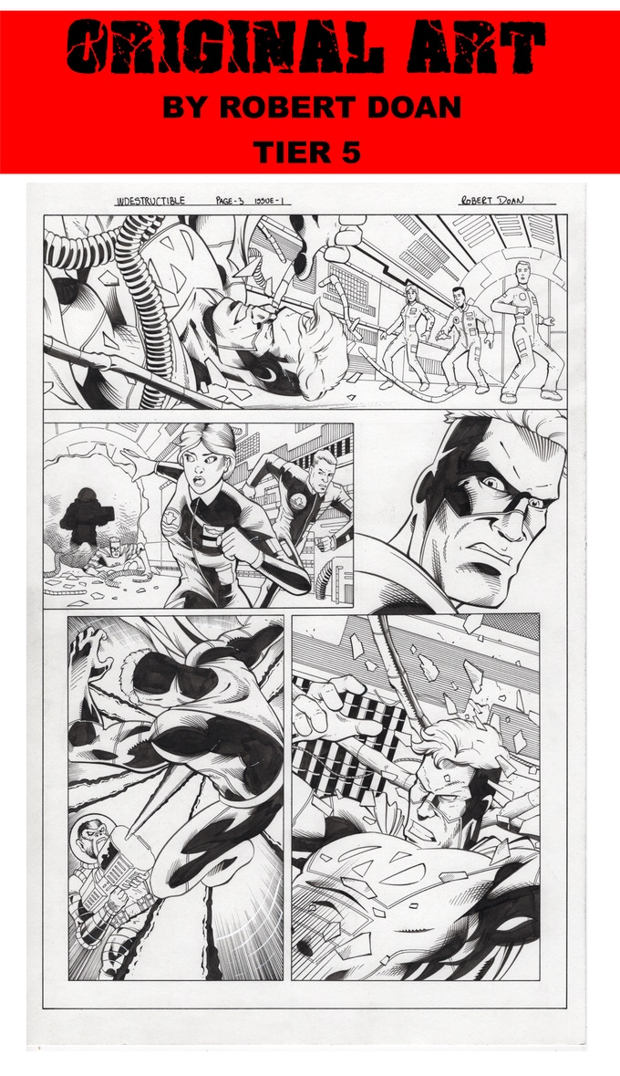 PAGE 3 ORIGINAL ART FROM INDESTRUCTIBLE BY ROBERT DOAN