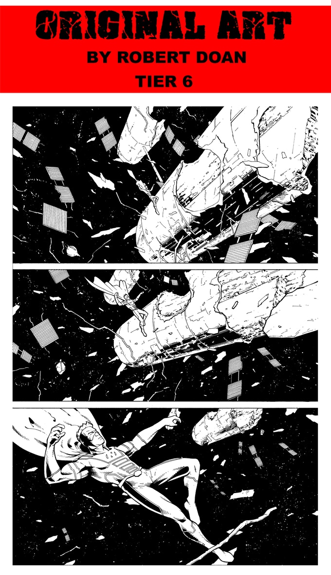 PAGE 1 ORIGINAL ART FROM INDESTRUCTIBLE BY ROBERT DOAN