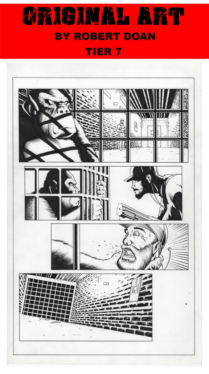 PAGE 18 ORIGINAL ART FROM INDESTRUCTIBLE BY ROBERT DOAN