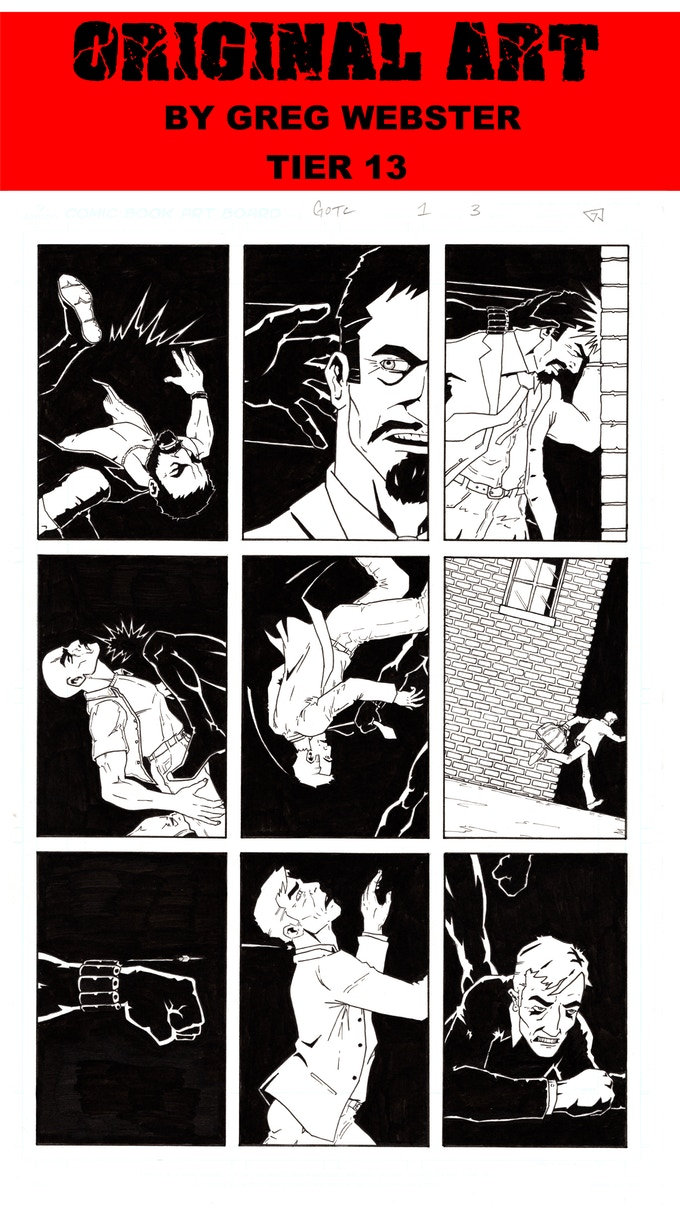 PAGE 3 ORIGINAL ART FROM THE GHOST IN THE CRADLE BY GREG WEBSTER