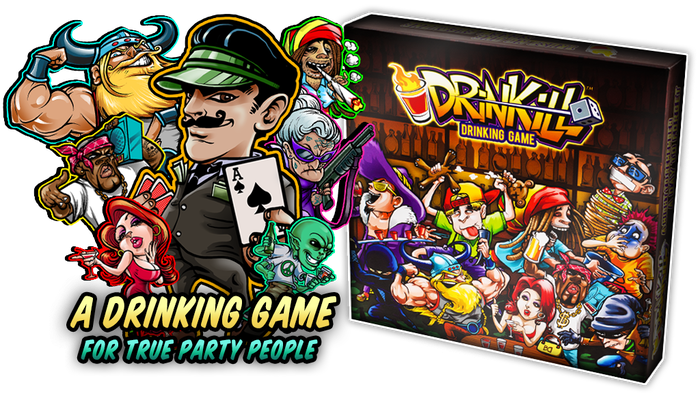 Tired of playing beer-pong? Looking for an adventure in a box? DRINKILL - A night to remember, a day to forget.