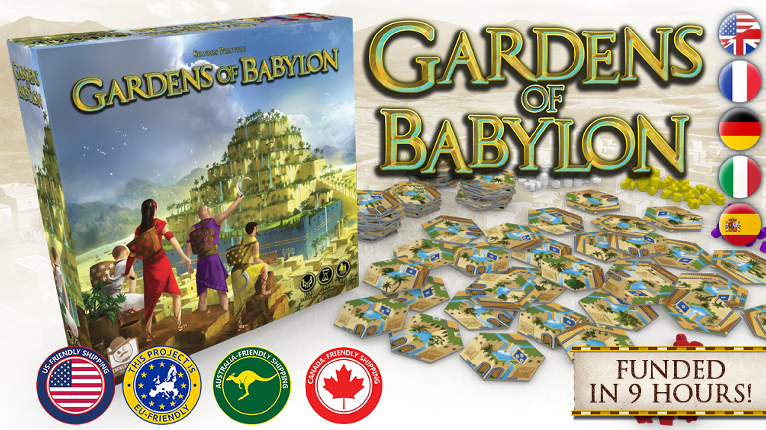 Compete to build one of the 7 Wonders of the Ancient World in this 1-4 player euro strategy game!