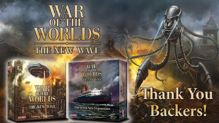 A two-player asymmetric game set in the years after H.G. Wells' War of the Worlds where humans defend against invading aliens.