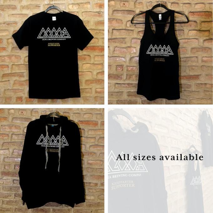 "Ogma ""Kickstarter Supporter"" T-shirt, Tank Top and Hoodie"