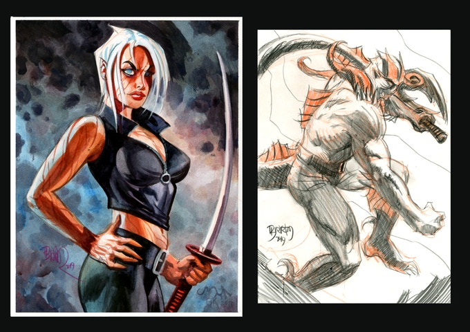 8.5x11 inch WATERCOLOR and 7x10 inch SKETCH plate samples