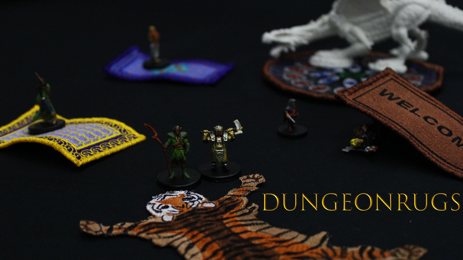 DungeonRugs: Miniature magic carpets, smothering rugs, and flying carpets for your favorite dungeon crawler.