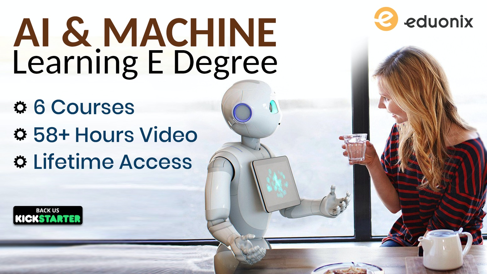Become an AI and Machine Learning expert with this E-Degree having Multiple Projects, Real life test cases, Exams, Certification & More