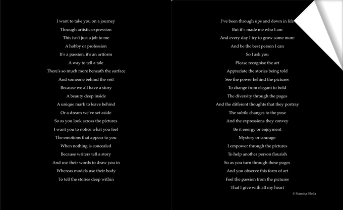 WELCOME poem in the book