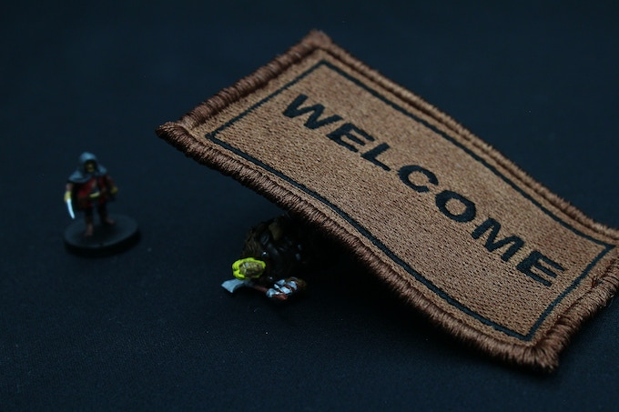 Sneaky Welcome Rug