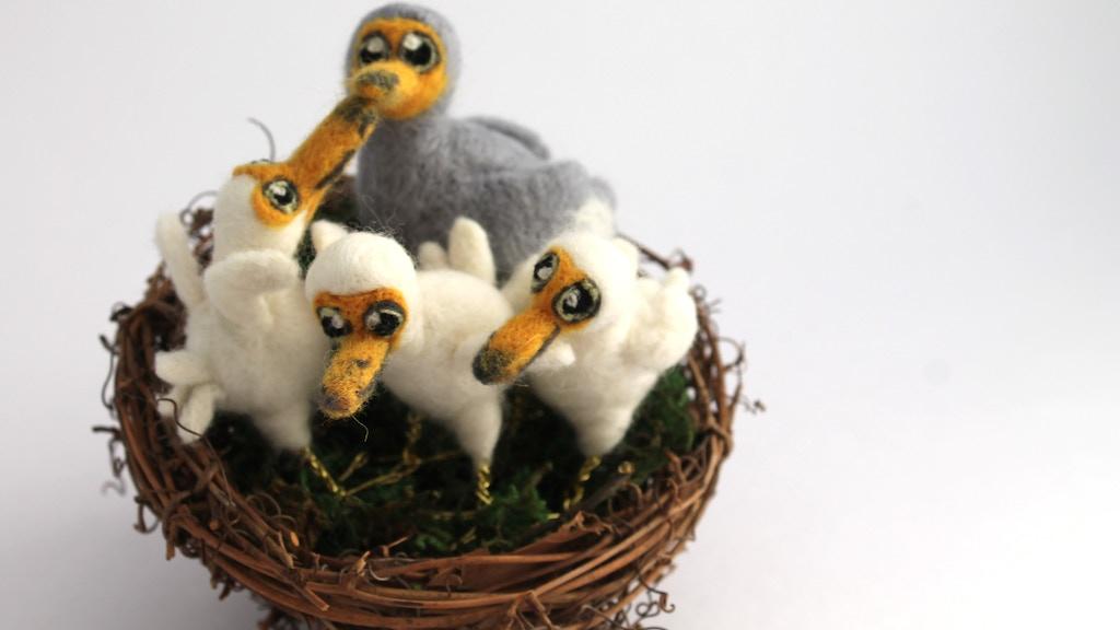 Make 100 - Needle Felted Dodo Birds project video thumbnail