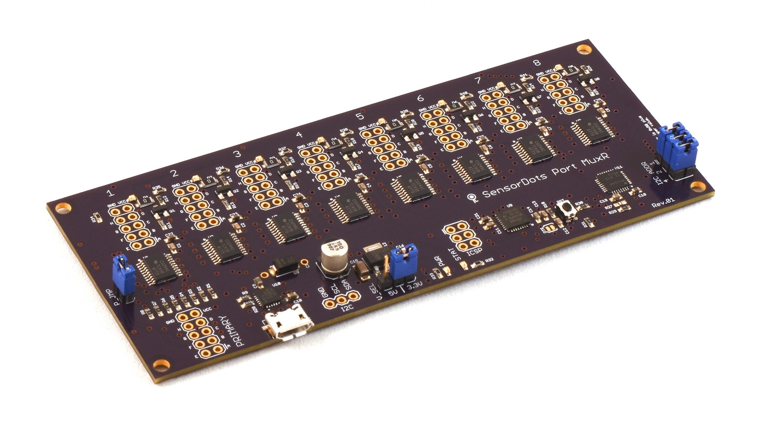 8/16 channel, bi-directional, switched bus multiplexer. Easily branch out programming cables, test devices, sensors and more.