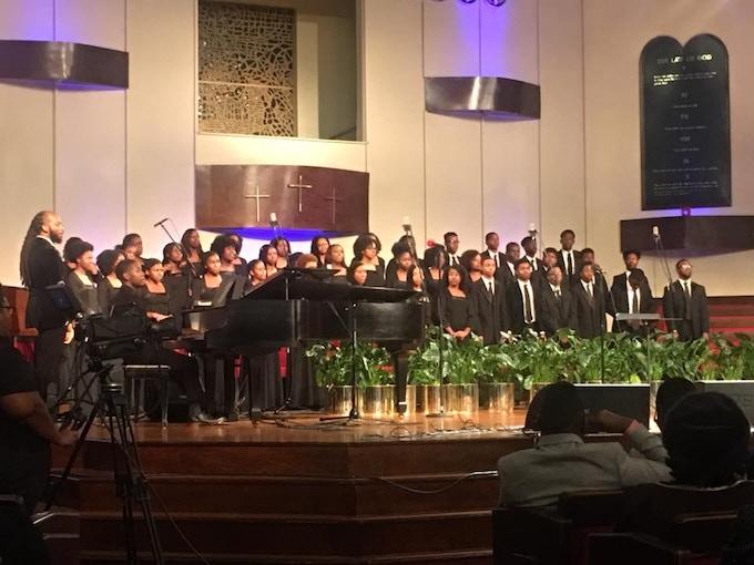 Pine Forge Choir at the Oakwood University Church in Huntsville, AL