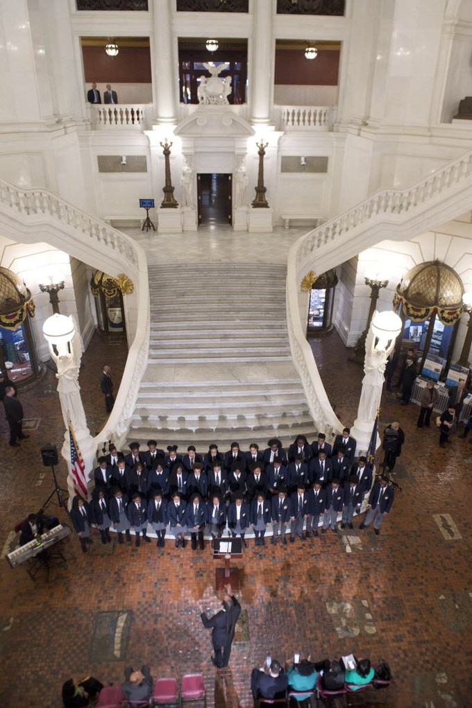 Pine Forge Choir at the Pennsylvania State Capitol