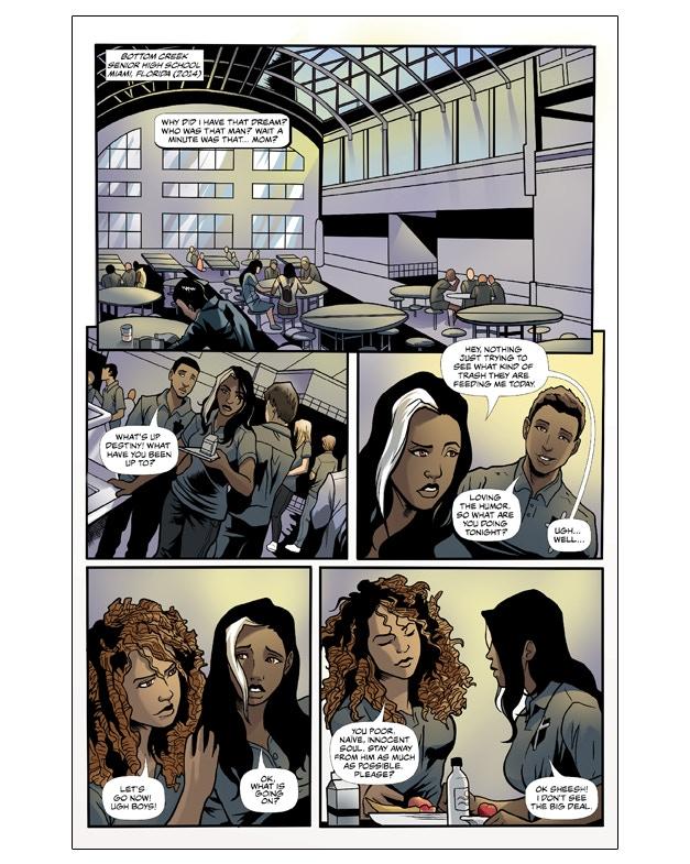 Interior Page from Spirit's Destiny #1