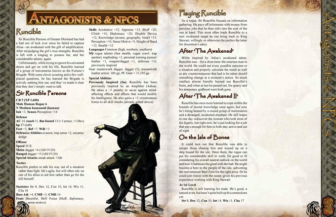 A sample character from the RPG to show how we craft the NPCs.