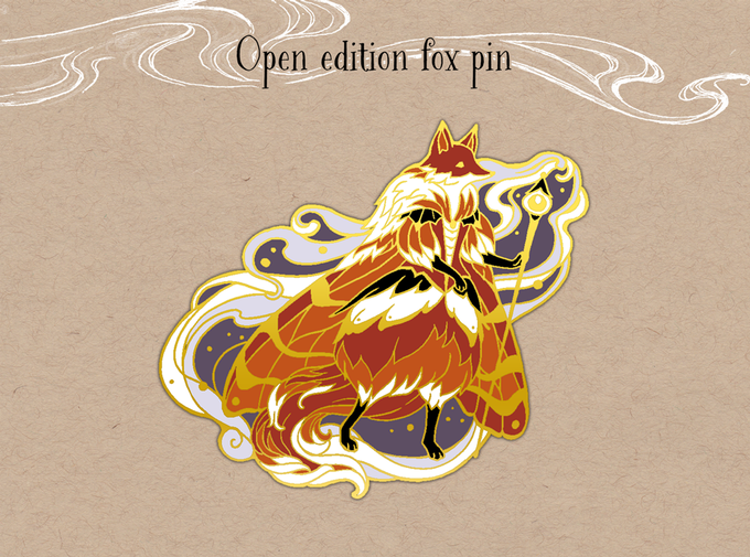 Open edition fox pin