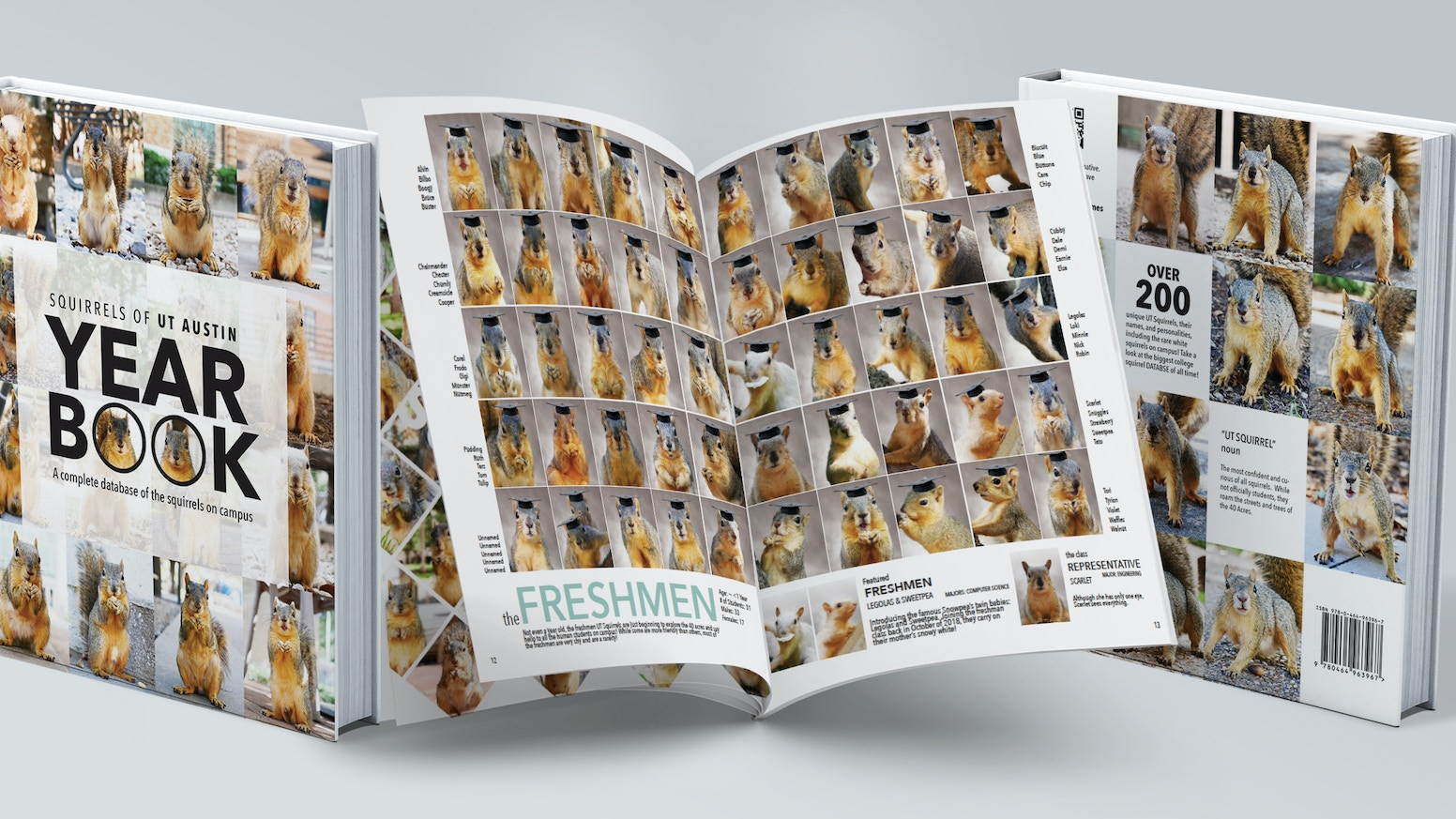 A yearbook... for squirrels!!! The Yearbook was 130% funded! Thank you to everyone who made this project possible! If you didn't get a chance to pre-order your copy, visit www.squirrelsofut.com to get your yearbook now!