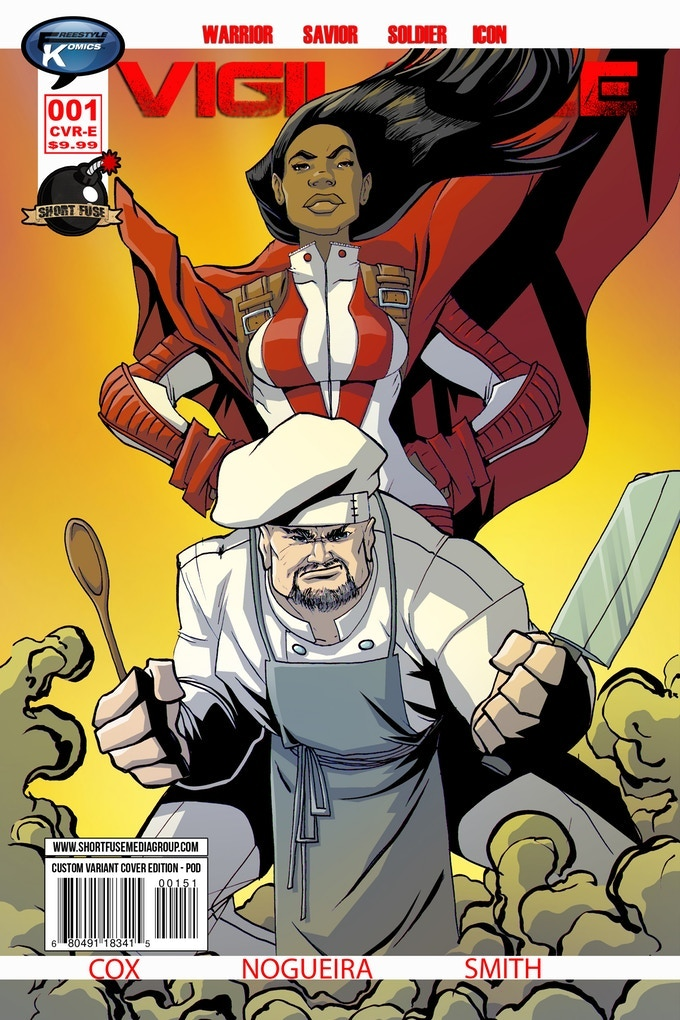 Vigilance Cameo Variant Cover Featuring The Chef (Based on an actual Backer)