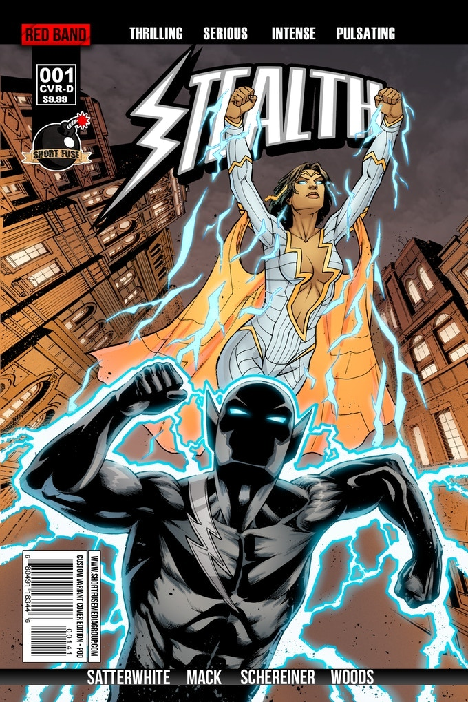 Stealth Cameo Variant Cover Featuring Thunder Woman (An Original Character from a Backer)
