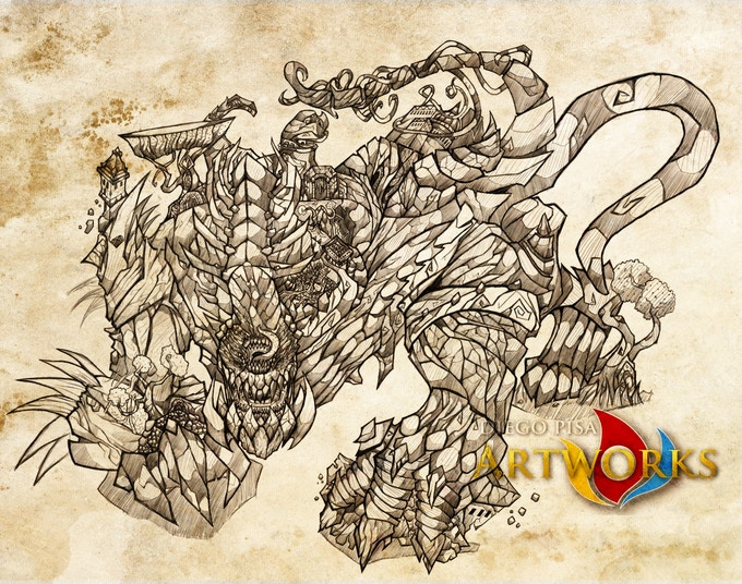 One of the Monster Cards you'll receive. Complete of background and behavior you can easily adapt to any RPG.