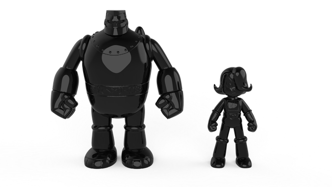 All Black Everything Blank Toy Set
