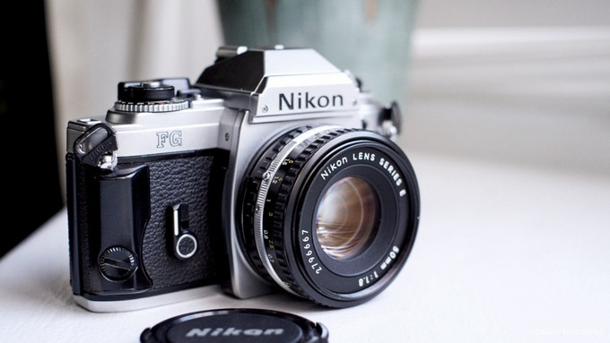 Here is a photo of the camera that my father gave me when I was a young man. It's a Nikon FG.  In so many ways, this camera has been the inspiration for this project and for so much creativity when I was a teenager.