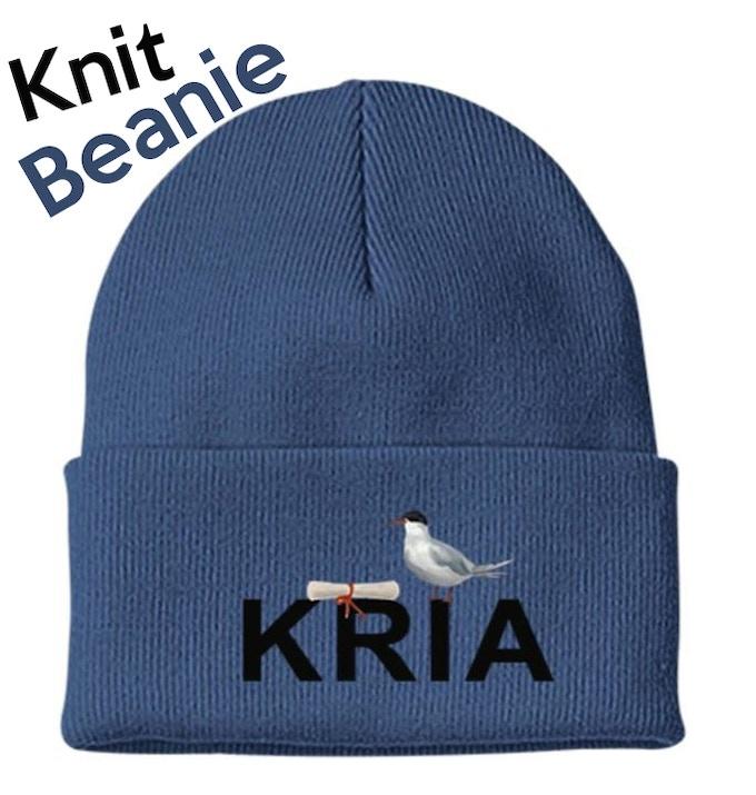 Knit Beanie - Navy Blue with KRIA Logo