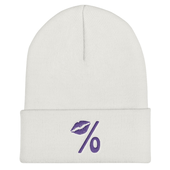 Logo Beanie Available in Gray and Ash