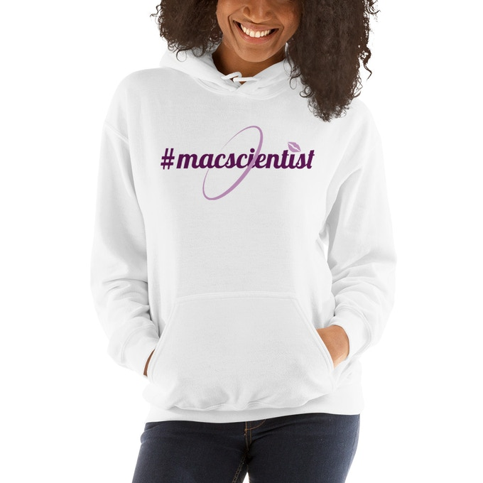 Official MacScientists logo hoodie available in Grey and White