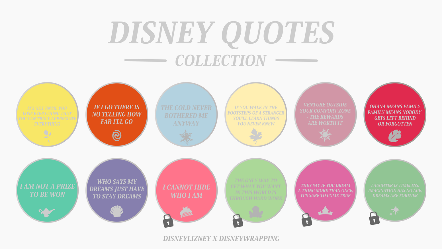 Disney Quotes Collection by DISNEYLIZNEY X DISNEYWRAPPING by ...