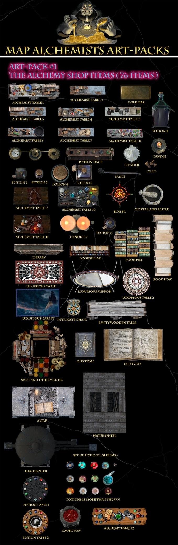 alchemy art set