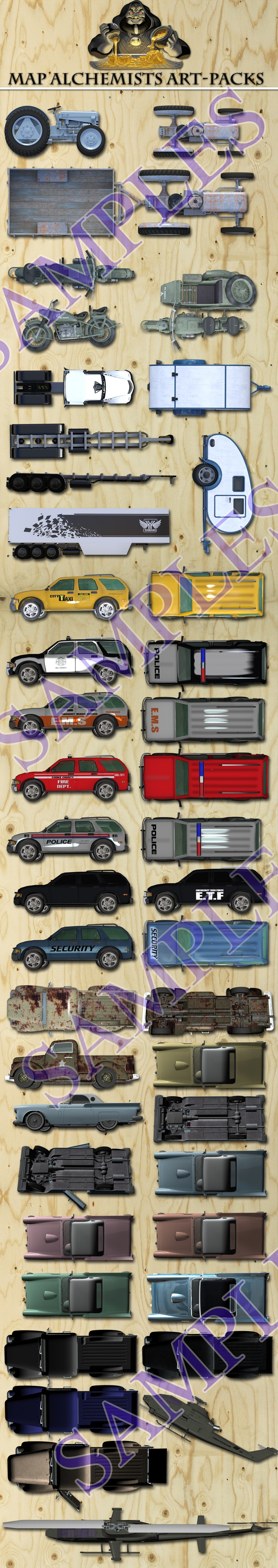 vehicles from the vehicles campaign
