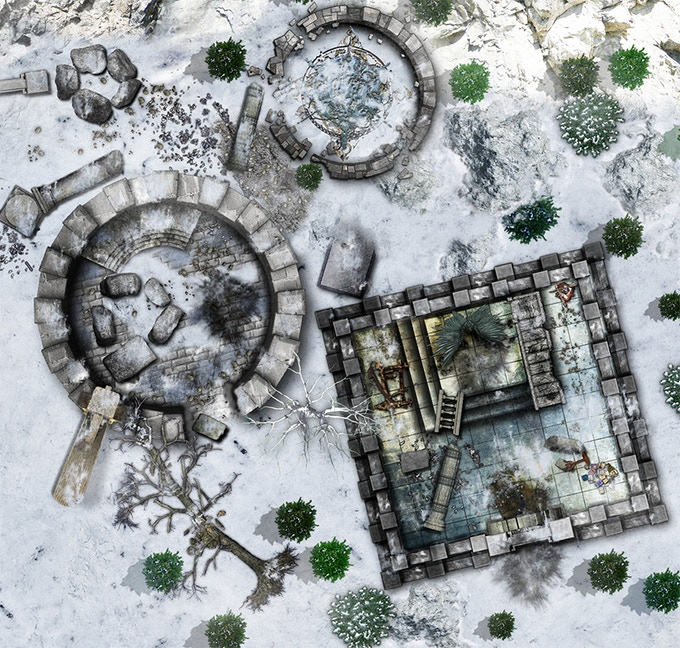 my first campaign map in the snow