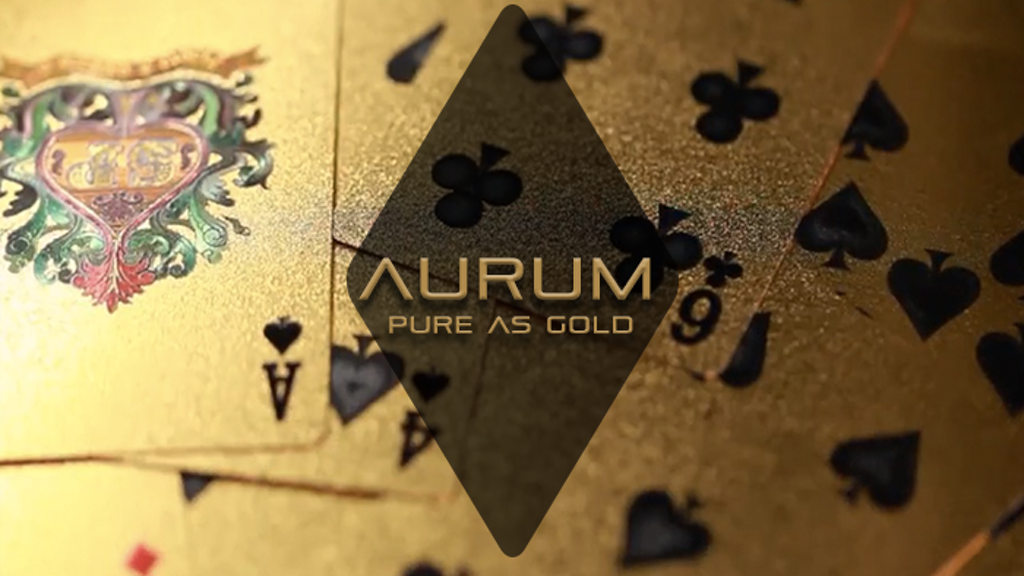 AURUM. Gold plated Playing Cards Deck.