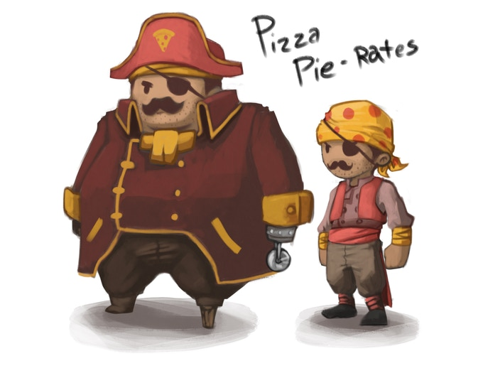 Concept art of the Pizza Pie-rates