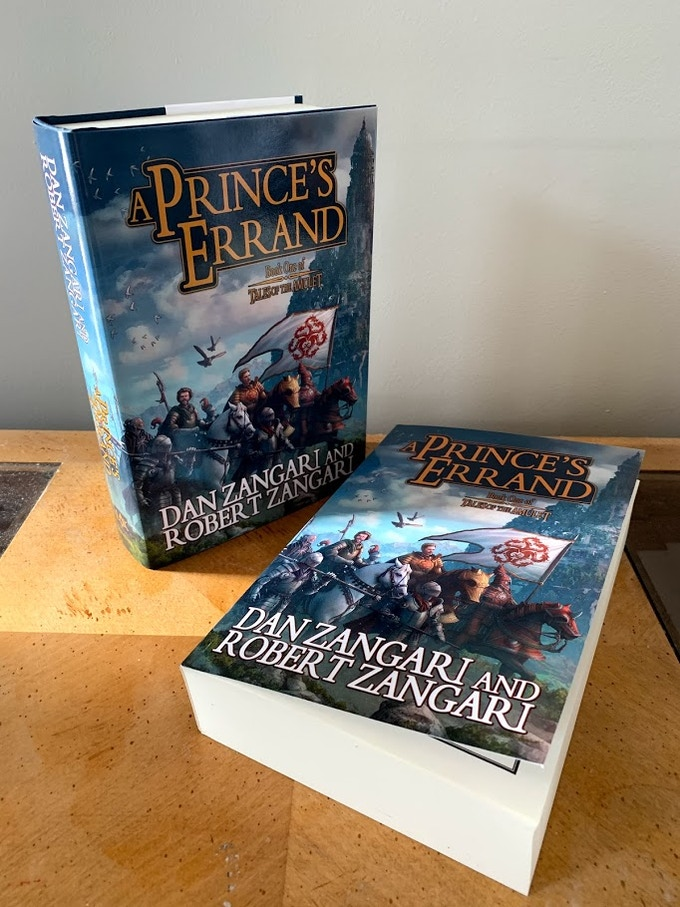 Beta-Reader versions of A Prince's Errand, paperback & hardcover editions.