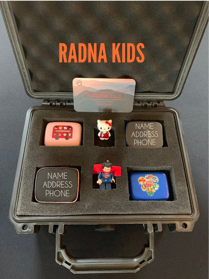 RADNA Kids Device with optional Toy Boxes.