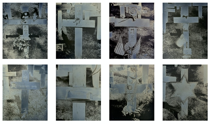 "from ""The Crosses"" (c) Binh Danh - original in-camera daguerreotypes, 5 x 4 inches"