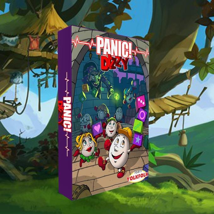 Panic! Dizzy NES box