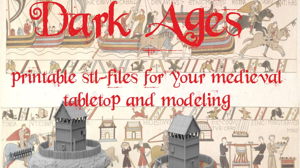 Dark Ages, 3d printable terrain for tabletop project video thumbnail